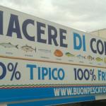 Buon pescato italiano a Sorrento