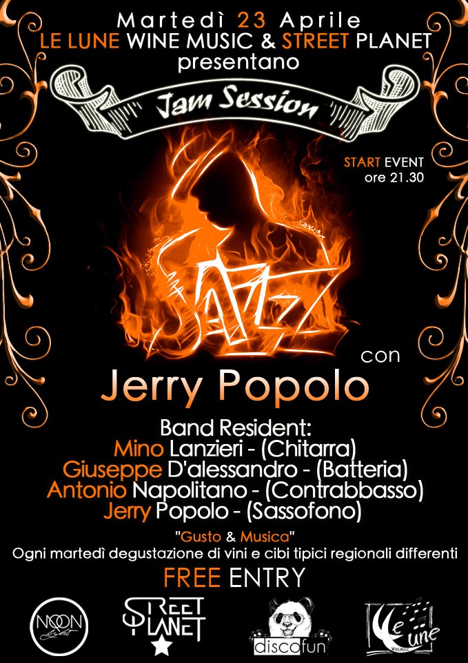 Jerry Popolo a Le Lune WineMusic