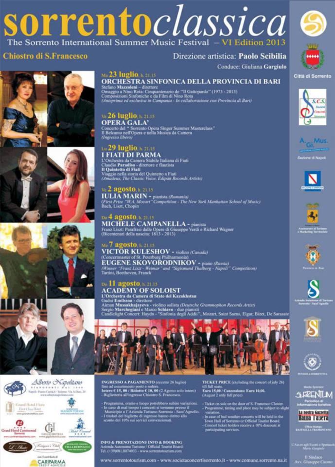 Sorrento Classica, il festival estivo della musica classica