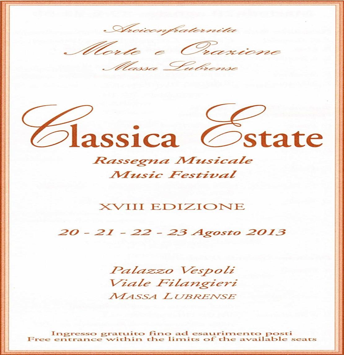 Classica Estate, serata conclusiva a Massa Lubrense