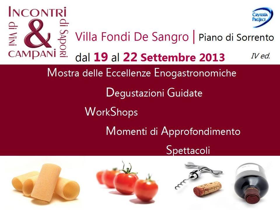 Incontri di Vini e di Sapori Campani, la kermesse enogastronomica a Piano di Sorrento