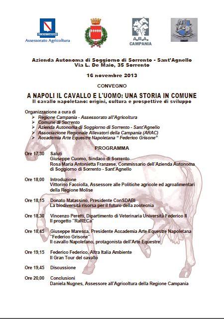 A Napoli il cavallo e l\'uomo, convegno a Sorrento - Sorrento ...