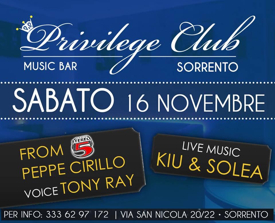 Kiu & Solea live show al Privilege