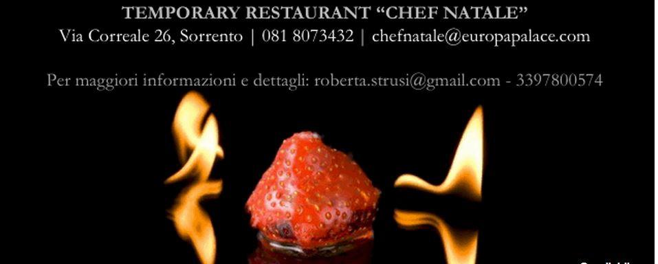 """""""Chef Natale"""", il primo Temporary Restaurant"""