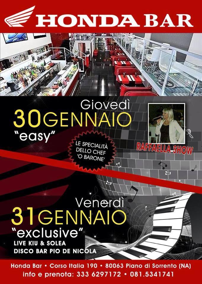 Musica, divertimento e gastronomia al Lounge Bar griffato Honda
