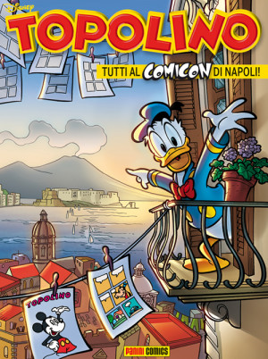 Copertina di Topolino dedicata a Napoli