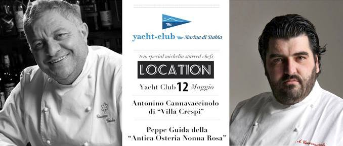 Antonino Cannavacciulo allo Yacht Club Marina di Stabia