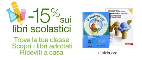 Compra i libri scolastici online e risparmia il 15%