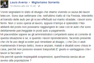 Via Festola a Sorrento - Miglioriamo Sorrento