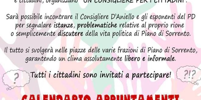 """Piano di Sorrento: """"Un consigliere per i cittadini"""""""