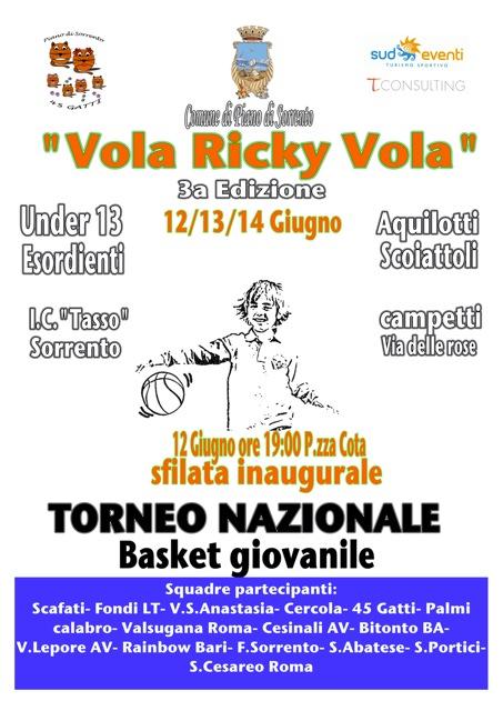 Torneo vola Ricky vola - Locandina