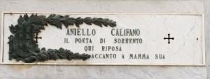 Tomba del poeta Aniello Califano a Sorrento