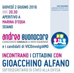 Andrea Buonocore incontra Gioacchino Alfano